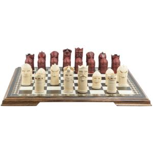 "Medieval Masked 3.5"" King Size Chess Set"