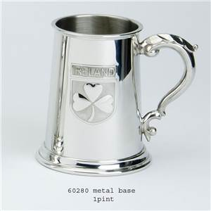 1 Pint Pewter Tankard With Ireland Badge Ebp 60280 By