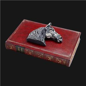 Horse Paperweight - Large - Horse Head on a Faux Book