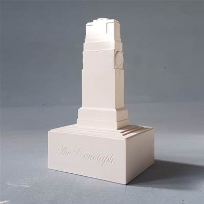 Cenotaph Memorial London - Small Plaster Model - Hand crafted in Gypsum Plaster in the UK