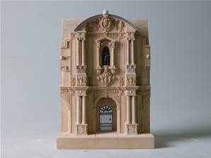 St John's College Oxford, England - Model of Building Facade
