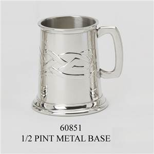 1/2 Pint Pewter Tankard with Celtic Knot Design - EBP-60851 by Edwin Blyde.