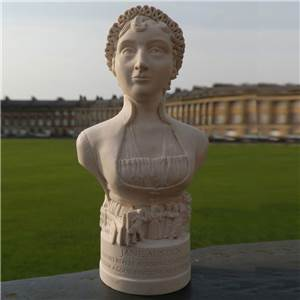 Bust of Jane Austen - Hand crafted in Gypsum Plaster in the UK