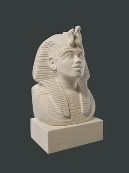 Tutankhamun Mask - Hand crafted in Gypsum Plaster in the UK