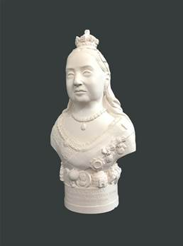 Bust of Queen Victoria - Hand crafted in Gypsum Plaster in the UK