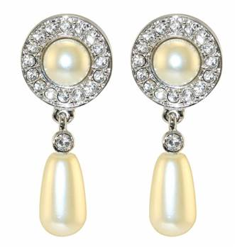 Queen Elizabeth II Jubilee Pearl Drop Earrings - Post