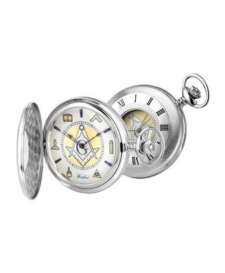 Masonic Pocket Watch in Sterling Silver from Woodford