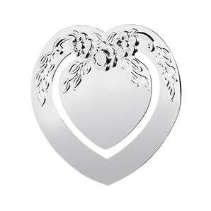 Sterling Silver Heart Bookmark with Engraving