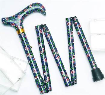 Mini 5 Part Folding Walking Stick - Ideal for Handbags - Morris - 80MH
