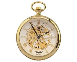 Woodford Gold Plated Open Centre Mechanical Pocket Watch