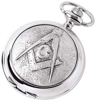 Masonic Pocket Watch from Woodford - Full Hunter Case with Mechanical or Quartz Movenment1887