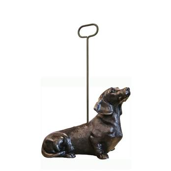 Bronzed Dachshund Door Stop with Handle