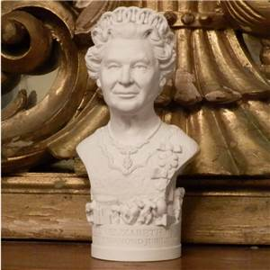 Bust of Queen Elizabeth II 2012 - Hand crafted in Gypsum