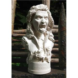 Boudica - Miniature Bust 13cm - Hand crafted in Gypsum Plaster in the UK