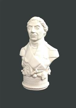 Bust of Nelson - Hand crafted in Gypsum Plaster in the UK
