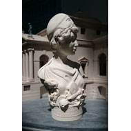 Greek Goddess Athena - Miniature Bust - Hand crafted in Gypsum Plaster in the UK