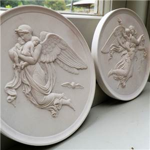 Night And Day Plaques (Set Of 2) - Hand Made in Gypsum Plaster in the UK