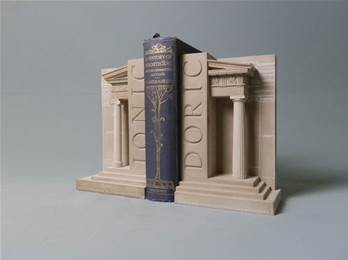Doric and Ionic Pillars - Bookends Hand Made in Gypsum Plaster