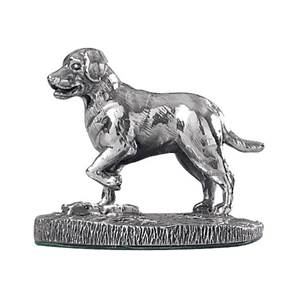 Labrador Pointing Cast in Sterling Silver - HBH-8204