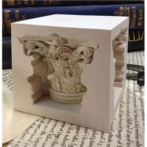 Corinthian Paperweight - Cube with capitol detail sunken into all sides.