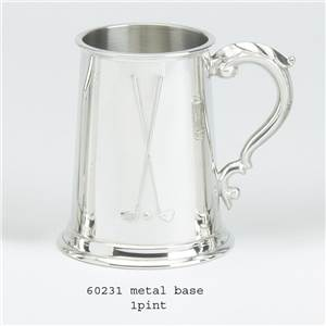 1 Pint Pewter Tankard with Golf Design - EBP-60231 by Edwin Blyde.