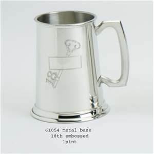 1 Pint Pewter Tankard with 18 Key Design - EBP-61054 by Edwin Blyde.