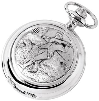 Golfer Pocket Watch from Woodford - Full Hunter Case with Mechanical or Quartz Movenment 1881