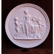Ages of Man Plaques reproduced in fine Gypsum plaster