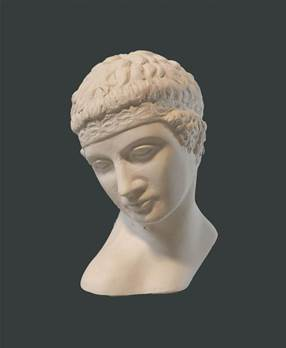 Roman Youth Head - Hand crafted in Gypsum Plaster in the UK