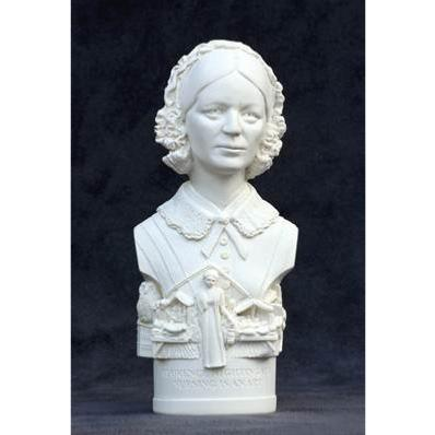 Bust of Florence Nightingale in Gypsum Plaster