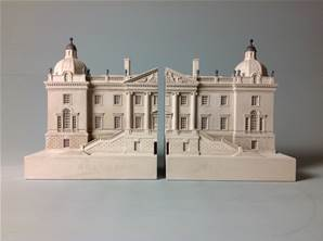 Houghton Hall, Norfolk, England - Model Split to make Bookends