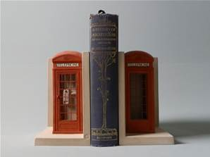 'Red Telephone Boxes' - Pair of Bookend Models