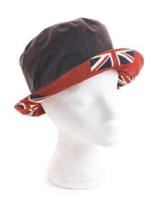 Bucket Hat, Brown with Union Jack Flag